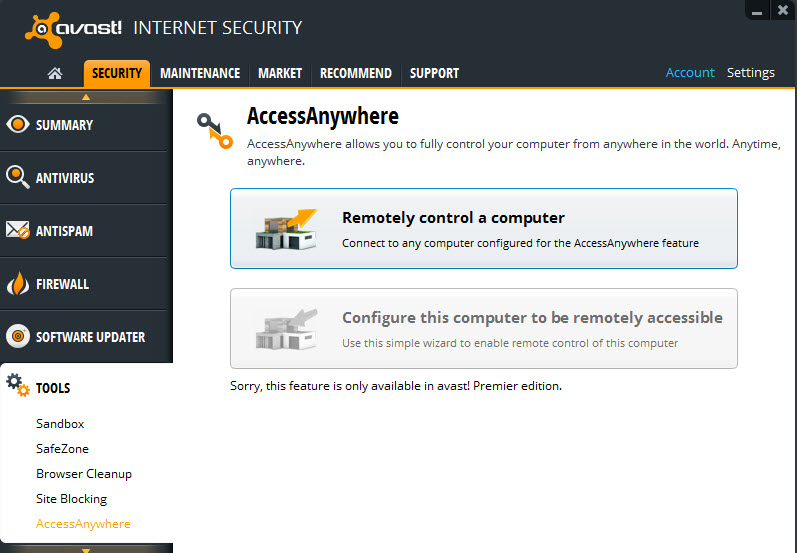 avast! antivirus - high security and protection from malware